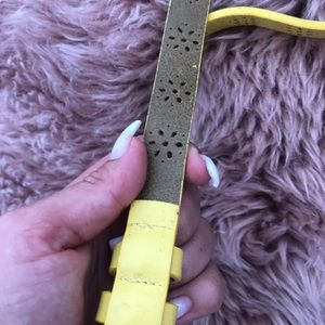 J. Crew Accessories - Jcrew yellow belt